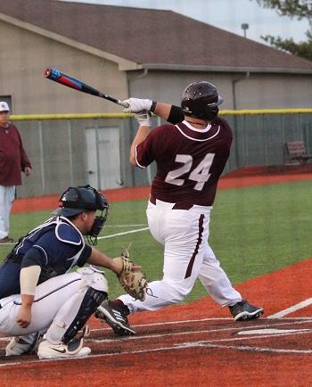 #24 J.D. Payne at bat
