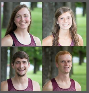 Headshots of Beth Marteney, Hannah Duncan, Sam Scaggs, and Shane York