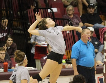 #11 Ryley Thixton going up for a kill