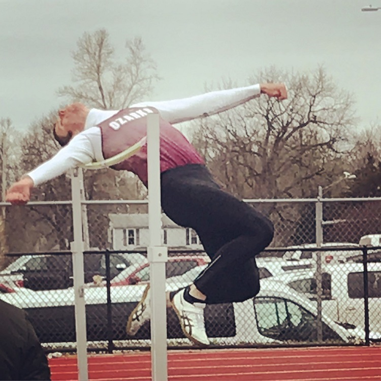 Kyle Kapella high jumping