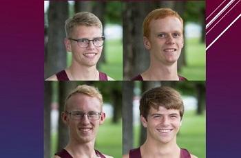 head shots of Sam Baumer, Shane York, Garrett Pierce and Wesley Moore