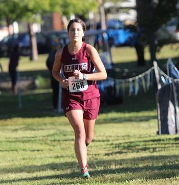 Adeline Holder running in the race