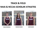 Bagg, Mrowiec & Scaggs Named Scholar Athletes