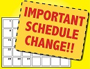 Schedule Change for March 23 Track & Field Meet