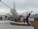 Lady Cats Post Personal Bests on Cold, Rainy Day