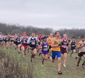 Men running in NAIA Nationals