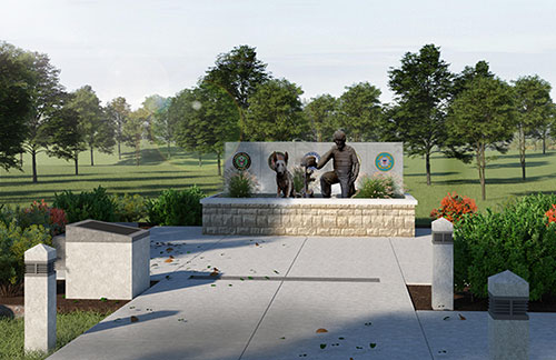 Artist Rendering of The Global War on Terrorism Memorial