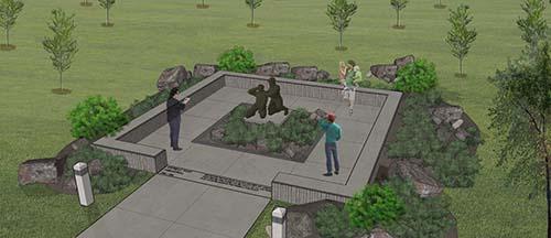 Rendering of The Korean War Memorial