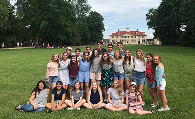 S of O junior class to DC, Virginia, New York and Pennsylvania