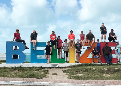 C of O students, faculty and staff travel to Belize.