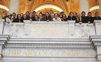 C of O students at the Library of Congress in Washington DC