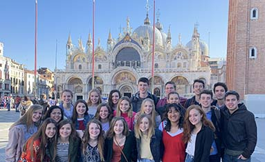 Annual cultural trip to Greece and Italy enjoyed by S of O seniors.