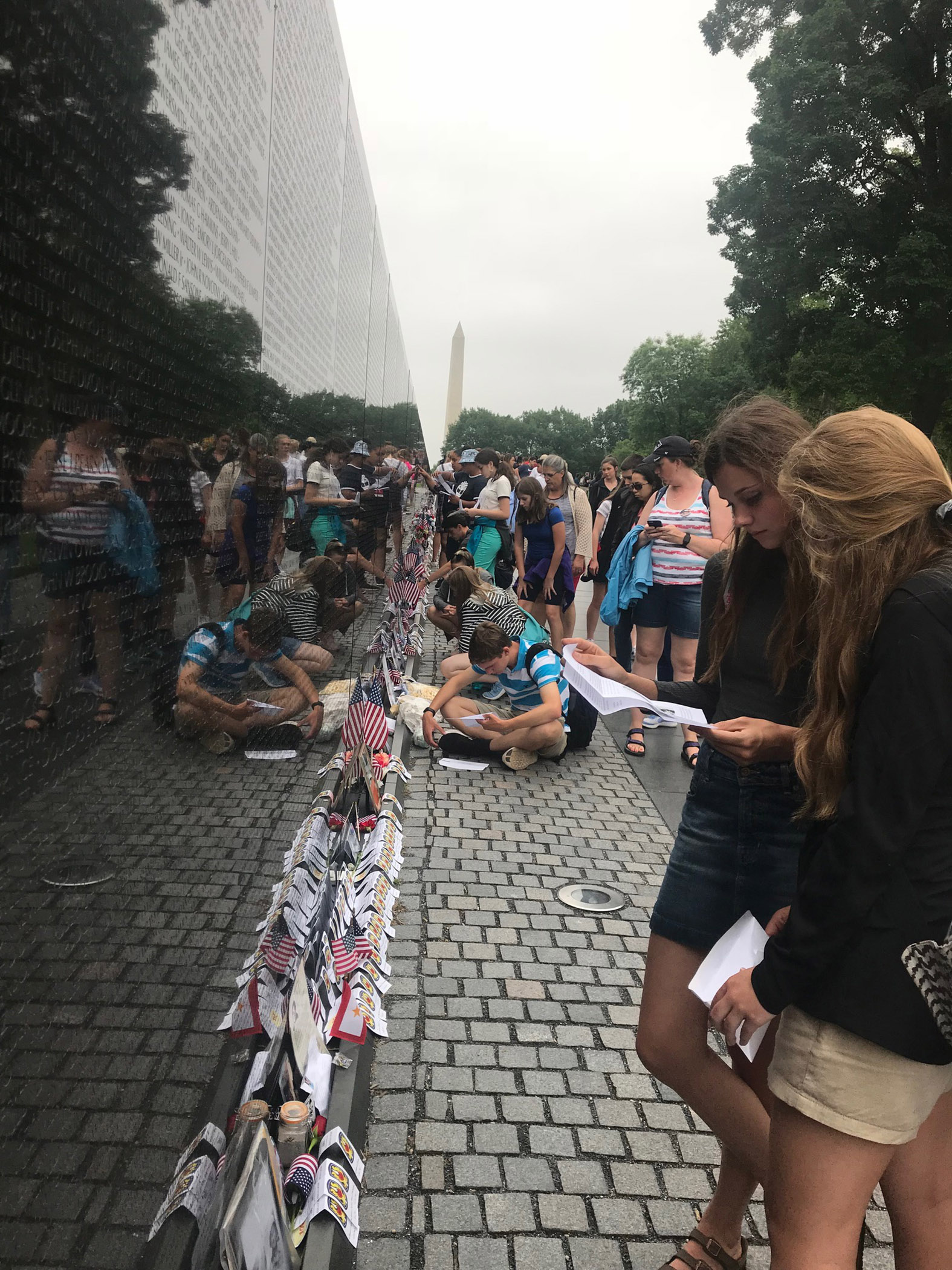 S of O juniors at the Vietnam Wall.
