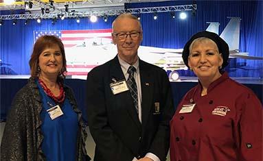 President Jerry C. Davis, Renee Crooker, and Bonnie Brazzea