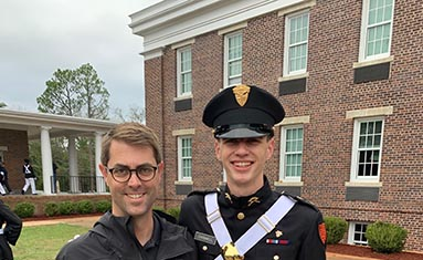School of the Ozarks graduate, Jack Carswell, with his father