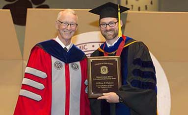 Faculty awards received at College of the Ozarks graduation May 13, 2018.