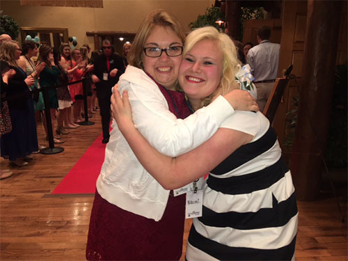 C of O alumna enjoys Nigh to Shine with special guest.