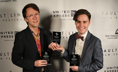 "C of O students attend Fault Line Film Festival and win ""Best Comedy"" and ""People"