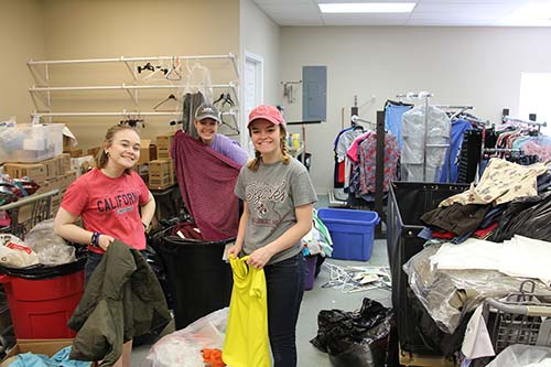 First-year students serve local community April 28, 2018.