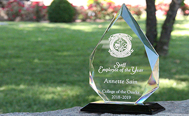Annette Sain awarded Staff Organization Member of the Year at C of O