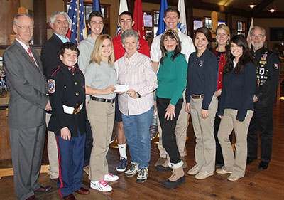 Branson Veterans Task Force presents check to S of O Pitch in for Patriots Club