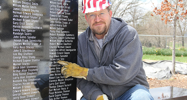 John Tate at Missouri Vietnam Memorial