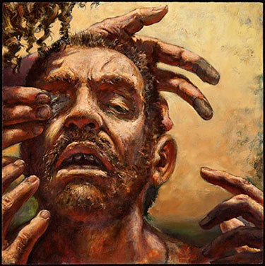 Healing of the Blind Man by Michael Buesking of Evangel University