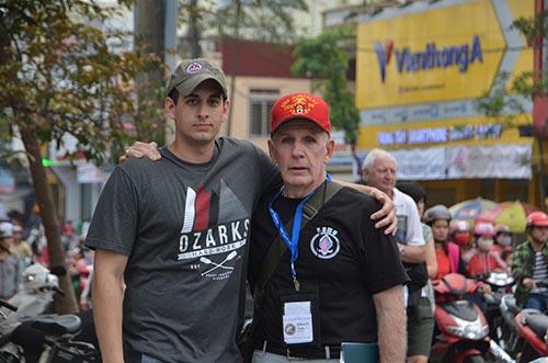 Eddie Neas and C of O student Grant Talburt