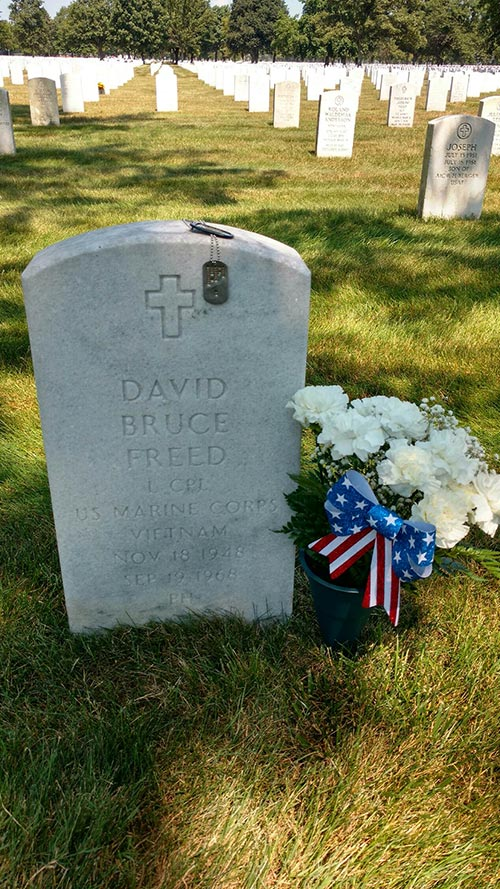 grave of Lance Corporal David Bruce Freed