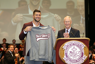 Tim Tebow and President Davis
