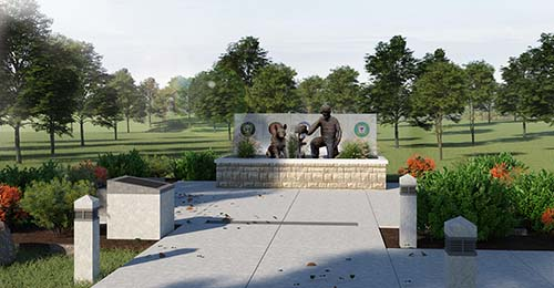 Representation of finished memorial.