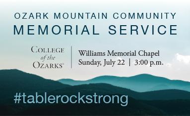 Logo for Ozark Mountain Community Memorial Service