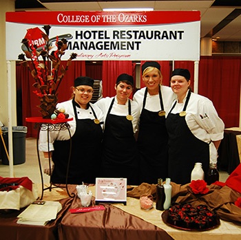 Culinary Arts Students at Art & Romance of Chocolate Show