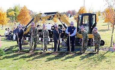 The Global War on Terrorism groundbreaking for memorial at C of O