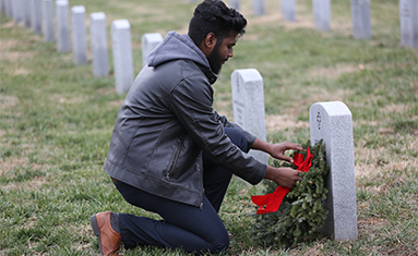 Missouri State Veterans Cemetery, site where C of O students laid wreaths on Dec. 1