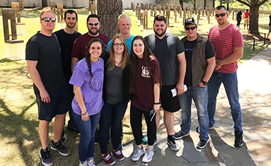 C of O Criminal Justice students visit Oklahoma City Memorial and participate in marathon
