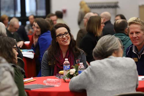 Lindsey Hood, assistant professor at School of the Ozarks, participates in the 2019 Classical Christian Education Conference held in the Hook Center at College of the Ozarks.