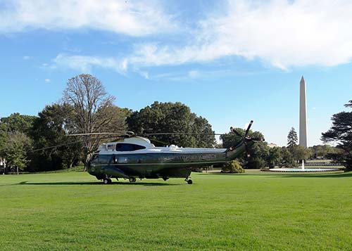 Arrivals and departures of Marine One were a highlight for Wiley during her time as an intern. (Photo by Abigail Wiley)