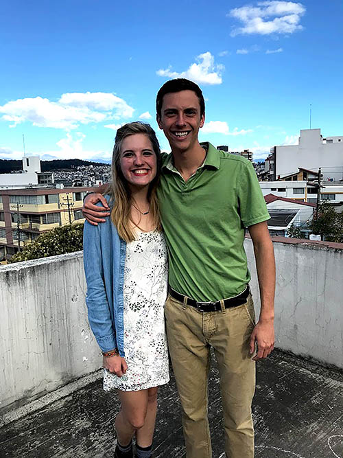 During the fall 2018 semester, two C of O students studied abroad in Ecuador.