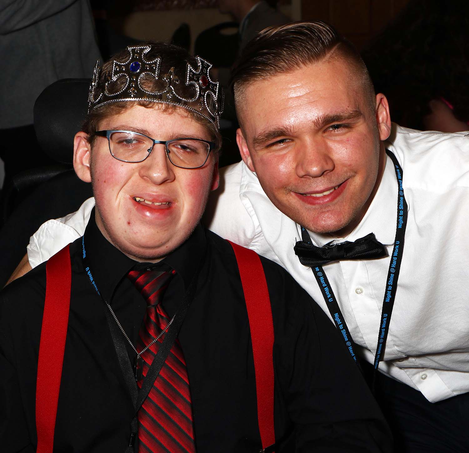 C of O student enjoys Night to Shine a special guest who also is his brother.