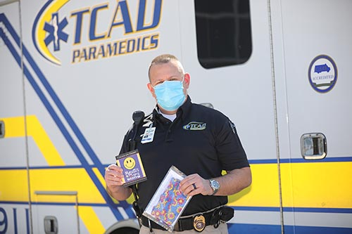 TCAD employee receives gift of masks