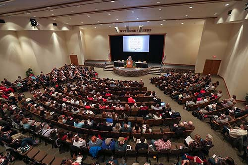 A large crowd attends Poverty Summit at C of O.