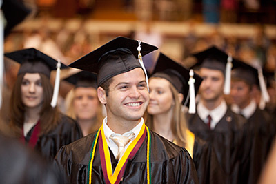 C of O Graduate graduating debt-free