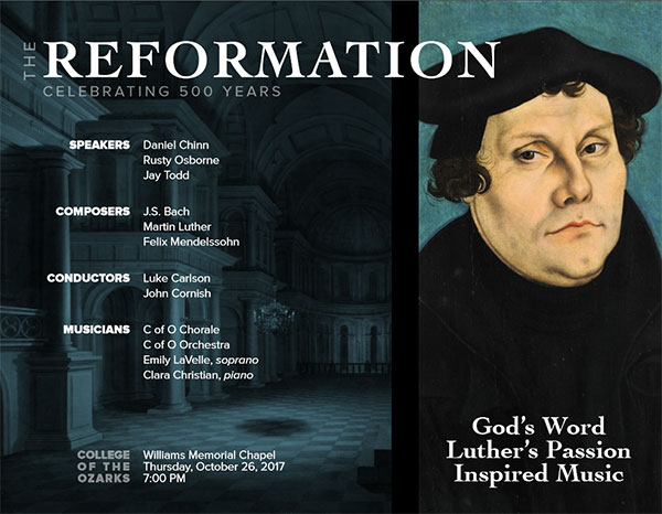 College of the Ozarks to host Reformation Concert
