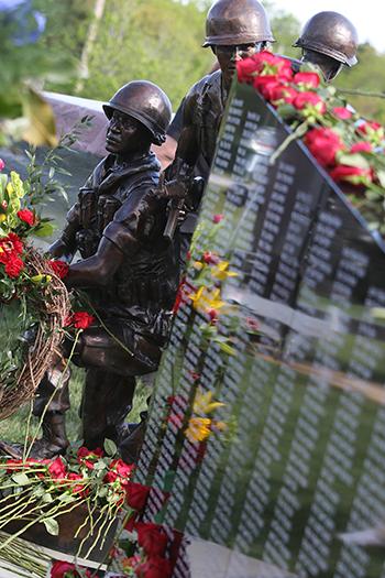 Roses at memorial