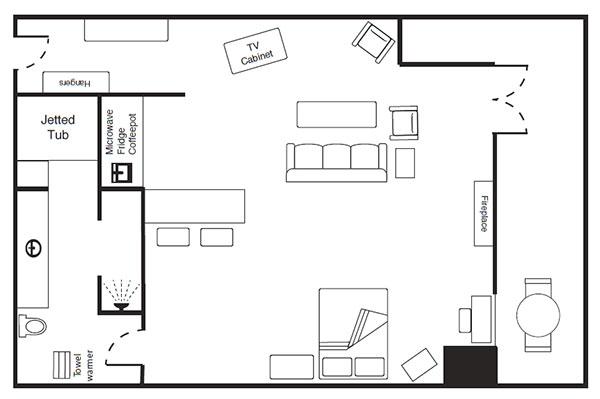 A Loft Room floor plan