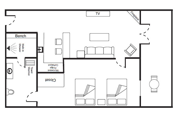 Skyline View Suite Floorplan