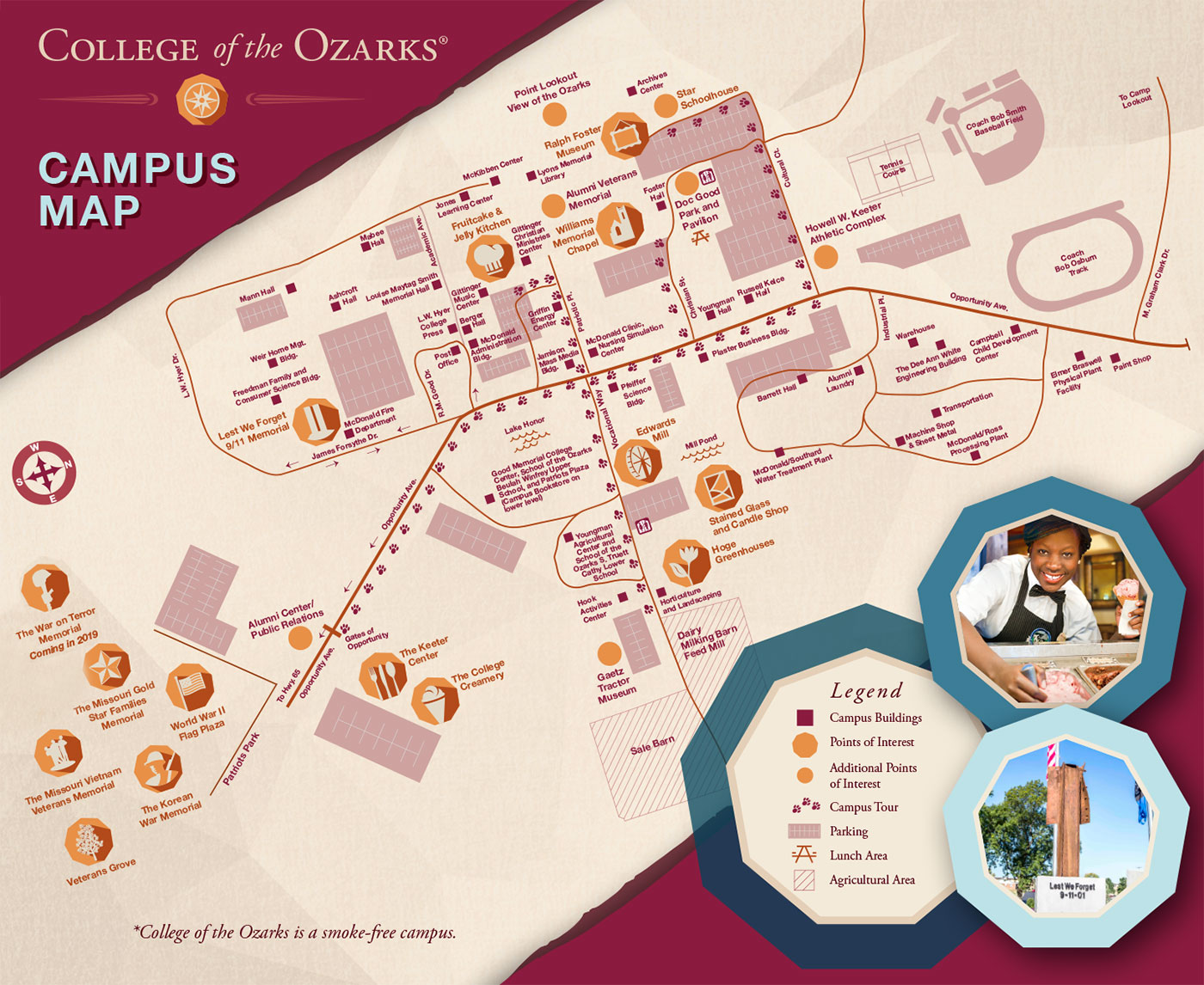 College of the Ozarks full campus map