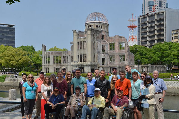 students, Veterans and sponsors on Mariana Island and Japan Tour