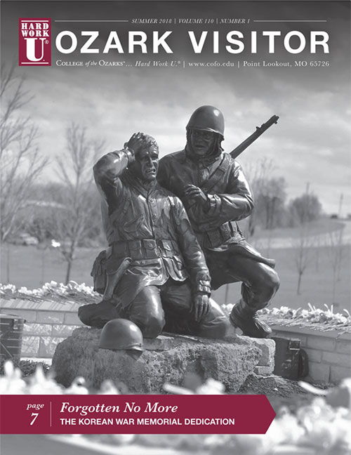 The cover of an issue of The Ozark Visitor